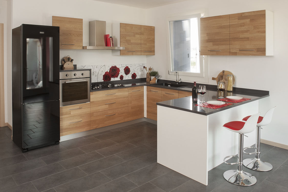 Cucina su misura zanini alcide artigiani del legno in verona - Offerte arredamento completo ikea ...